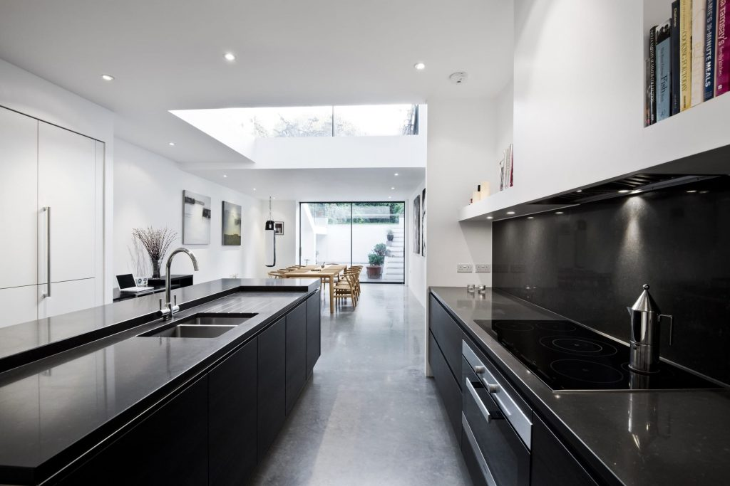 Contemporary kitchen worktops