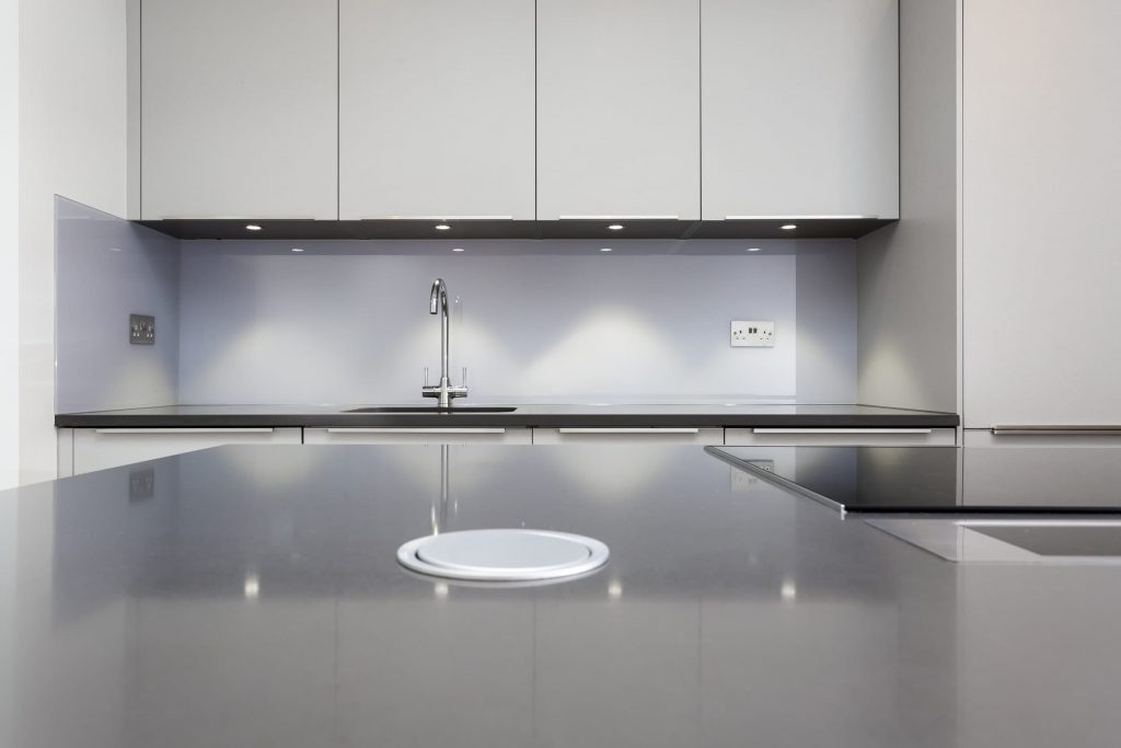 Popup sockets fitted in the worktop